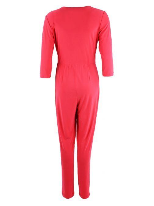 Frank Lyman Coral Wrap Jumpsuit