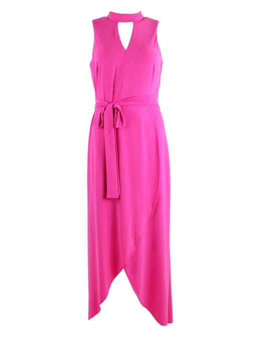 Frank Lyman Pink High-Low Maxi Dress 186065 PINK
