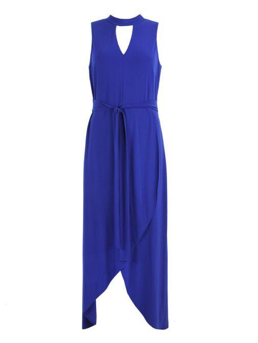 Frank Lyman Sapphire High-Low Maxi Dress 186065 SAPPHIRE