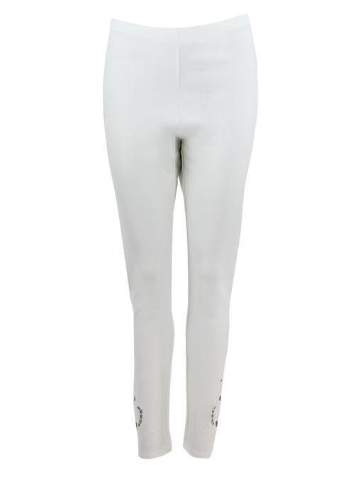 Frank Lyman Off-White Cutout Detail Leggings 186097U OFFWHITE