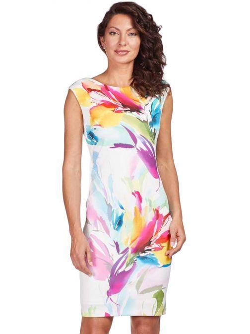 Frank Lyman Multi Colour Floral Print Dress