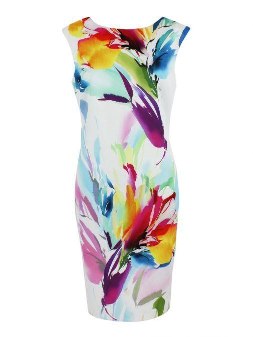 Frank Lyman Multi Colour Floral Print Dress 186171 PINK/MULTI