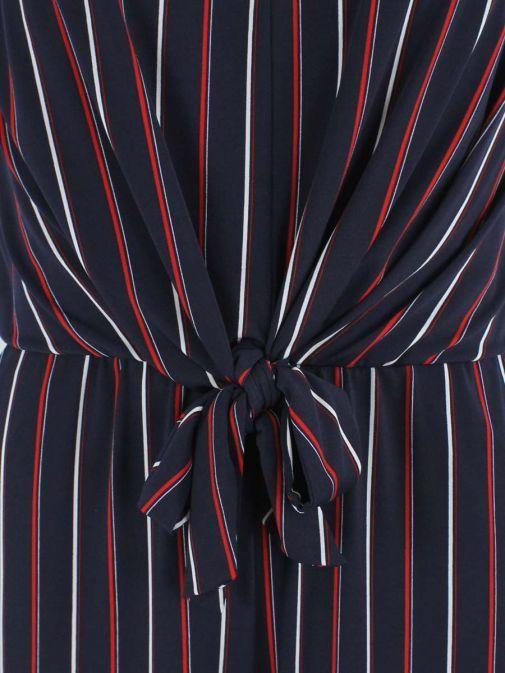 Frank Lyman Navy Striped Jumpsuit