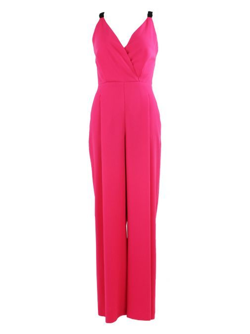 Access Fashion Pink Wide Leg Jumpsuit 19-5520-135 FOUX