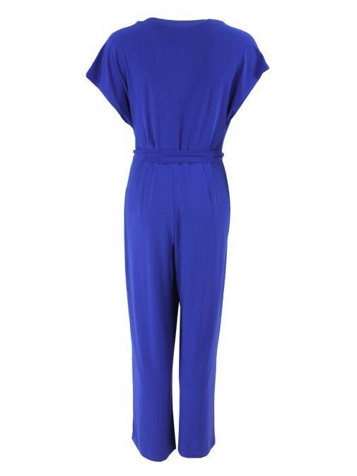 Frank Lyman Cobalt Lapel Style Wrap Jumpsuit
