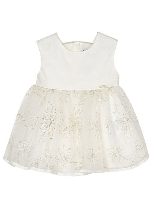 Mayoral Cream Tulle Dress 1914 10