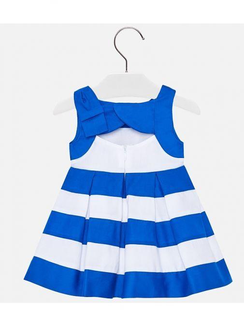 Mayoral Blue & White Stripe Dress