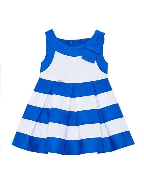 Mayoral Blue & White Stripe Dress 1926 49