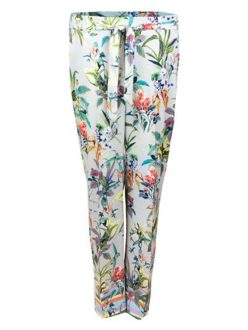 Bianca Parigi Grey Floral Trousers 20032 075