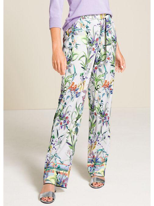 Bianca Parigi Grey Floral Trousers