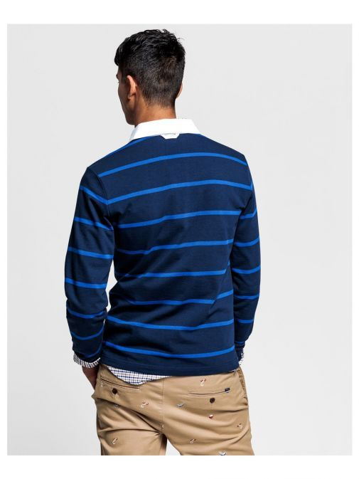 Gant Evening Blue Striped Rugby Shirt