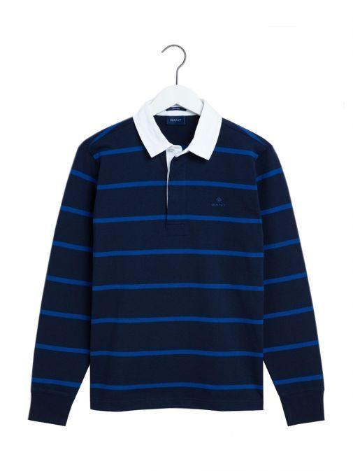 Gant Evening Blue Striped Rugby Shirt 2015034 433