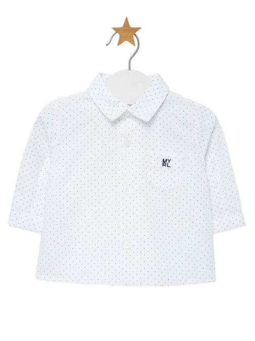 Mayoral White Dotted Shirt 2101 53
