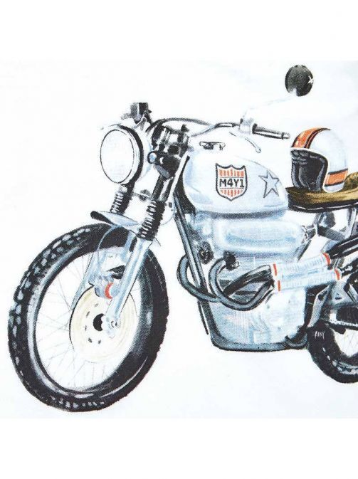 Mayoral White Motorbike Shirt