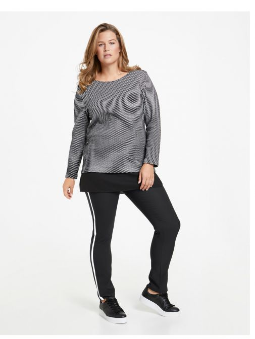 Samoon Black Stripe Trousers 220014-27007 1100