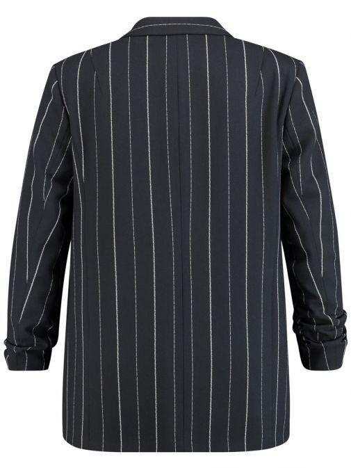Samoon Dark Navy Pinstripe Blazer 230020-27016 8102