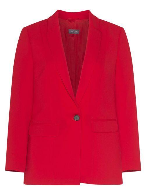 230024 27068 / 60634 Samoon Red Single Breasted Blazer
