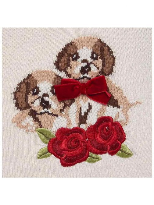 Mayoral Marzipan Dog Knit Jumper