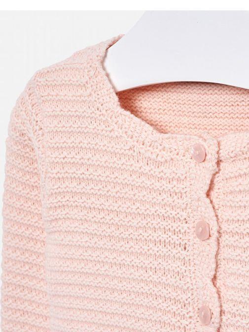 Mayoral Pink Knit Cardigan