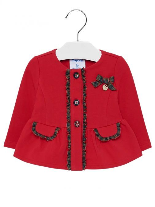 Mayoral Red Formal Ruffle Jacket 2424 74