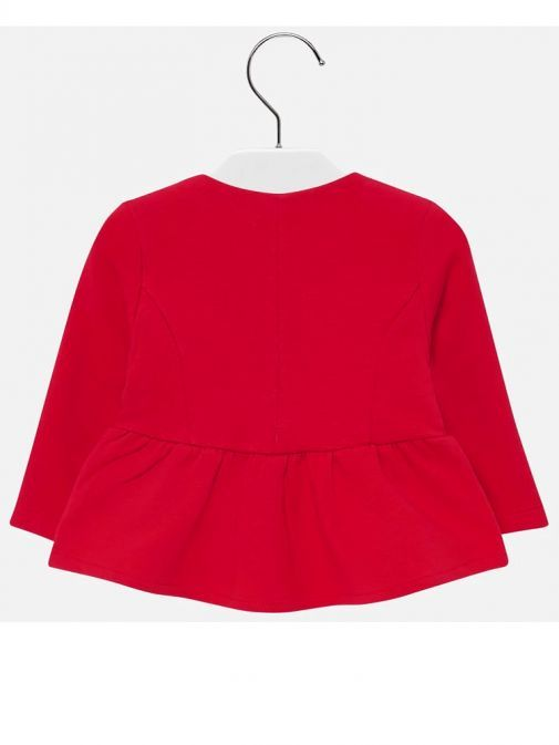 Mayoral Red Formal Ruffle Jacket