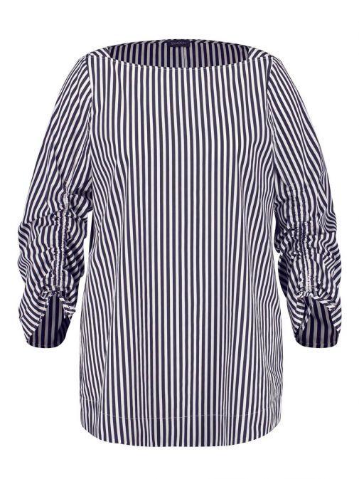Samoon Navy & White Striped Top 260403-21011 8102