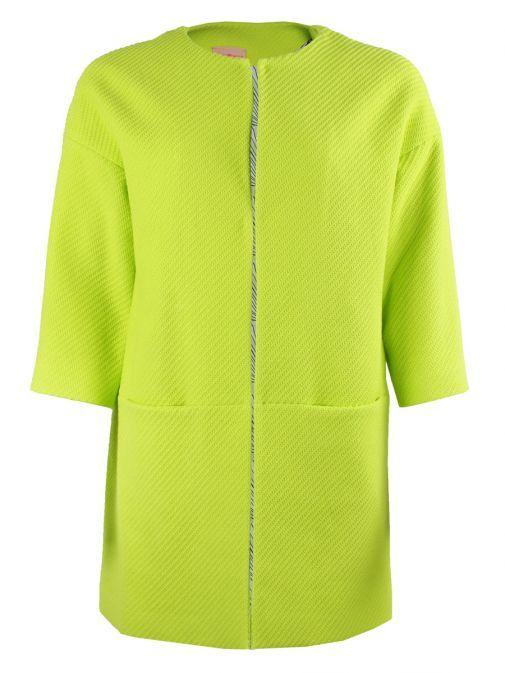 Vilagallo Lime Green 3/4 Sleeve Jacket 26153 LIME