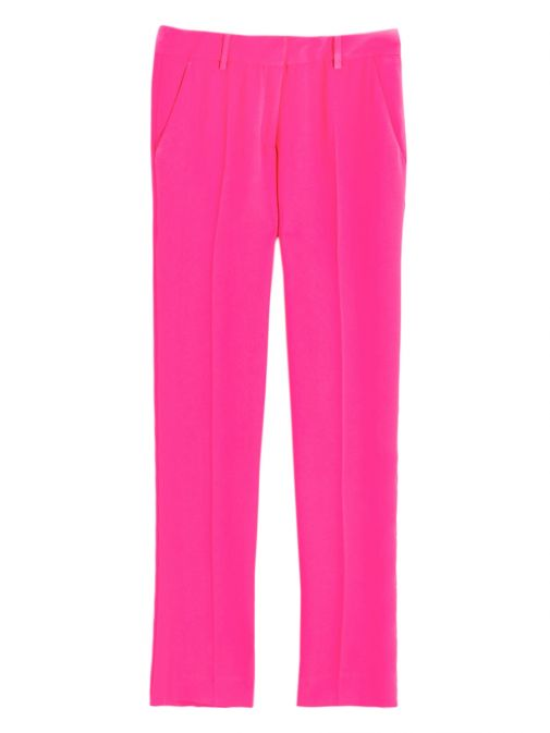 Vilagallo Pink Straight Leg Trousers 26275 PINKCREPE