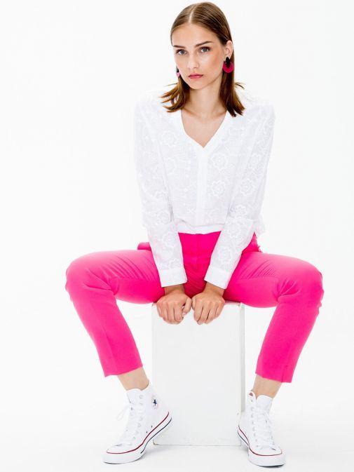 Vilagallo Pink Straight Leg Trousers