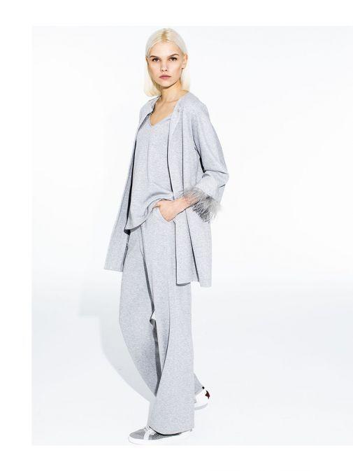 Vilagallo Grey Sparkle Trousers