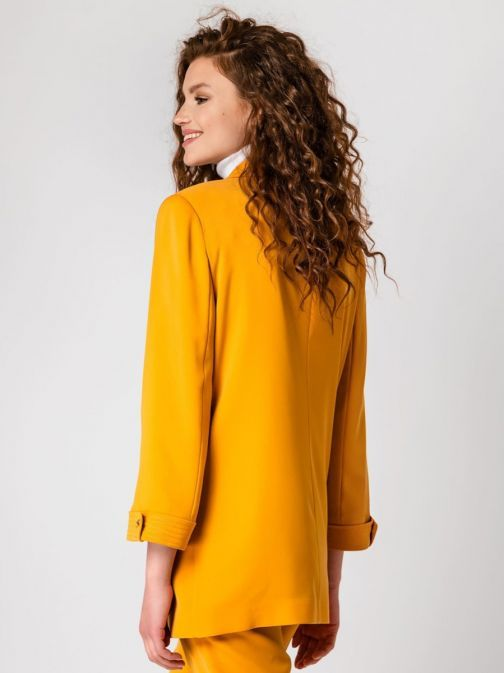 Access Fashion Mustard Longline Blazer