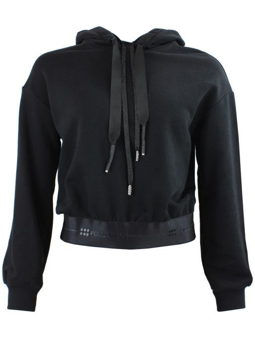 Eight By Access Black Embellished Back Hoodie 29-2100-700 BLACK