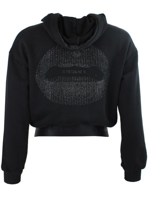 Eight By Access Black Embellished Back Hoodie