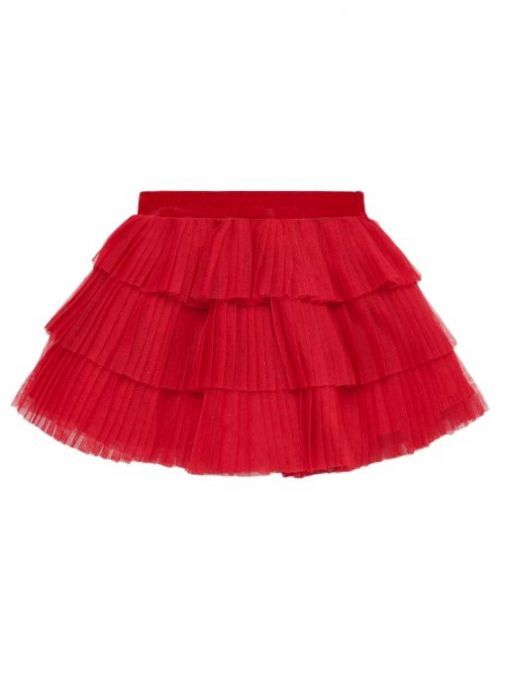 Mayoral Red Pleated Tulle Skirt 2901 10