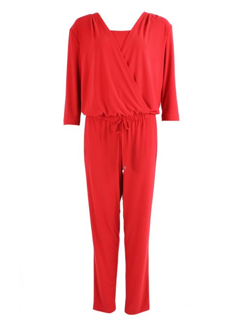 Verpass Red Stretch Jersey Jumpsuit 2925/38