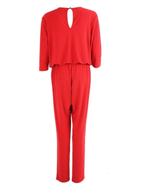Verpass Red Stretch Jersey Jumpsuit