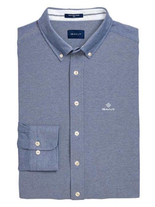 Gant Persian Blue Slim Fit Tech Prep Piqué Shirt 3002562 423