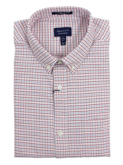Gant Raspberry Red Oxford Check Shirt 3005720 626
