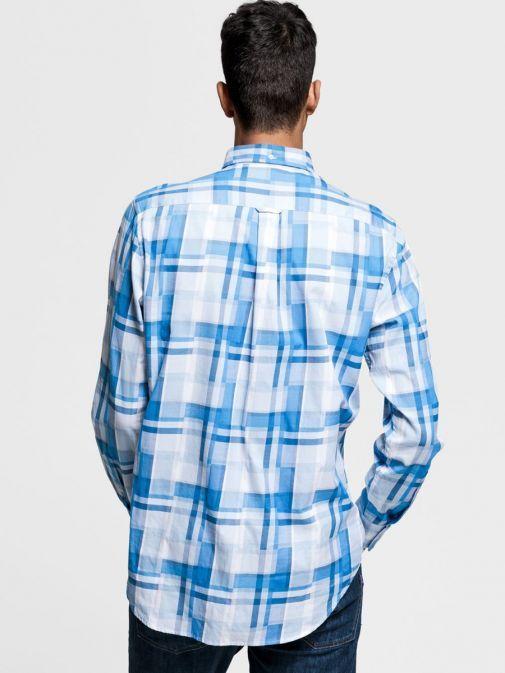 Gant Hamptons Blue Regular Fit Madras Irregular Shirt