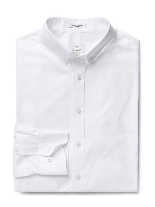 GANT White Pinpoint Oxford Button Down Shirt 303000 110