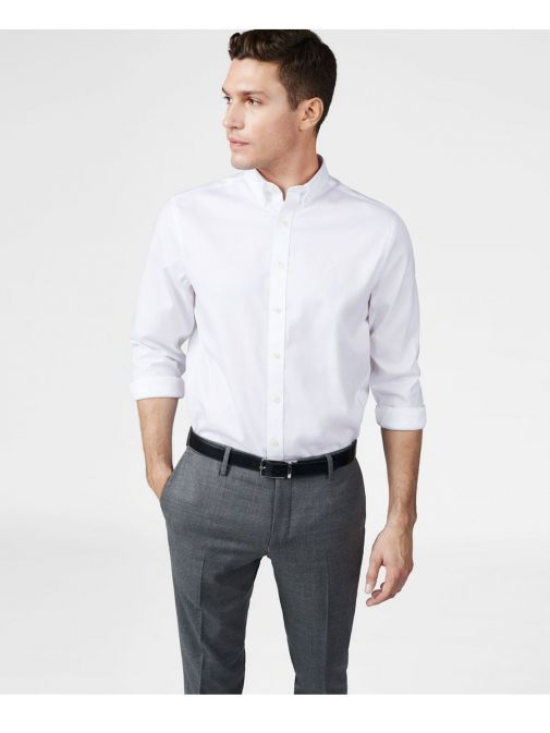 GANT White Pinpoint Oxford Button Down Shirt
