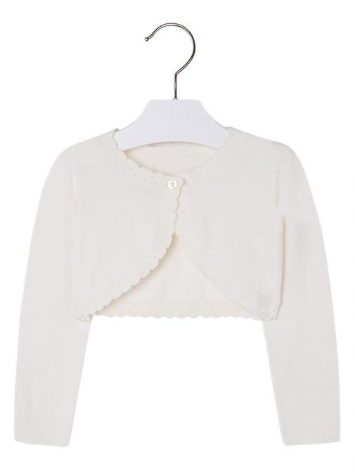 Mayoral Cream Knitted Bolero Cardigan 308 14