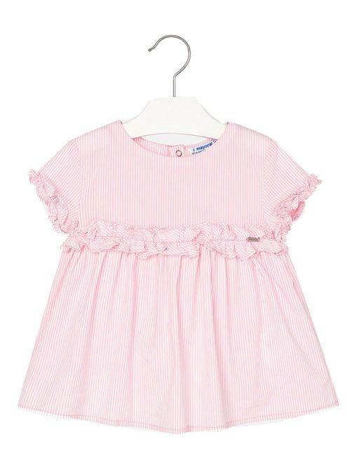 Private: Mayoral Pink Stripe Sleeveless Frill Top 3108 11