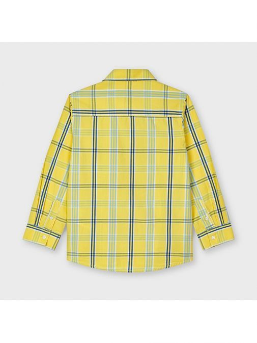 Mayoral Yellow Large Check Print Shirt 3126/96-Yellow