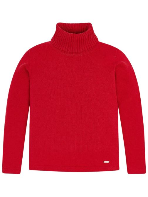 Mayoral Red Roll Neck Knitted Jumper 313 82