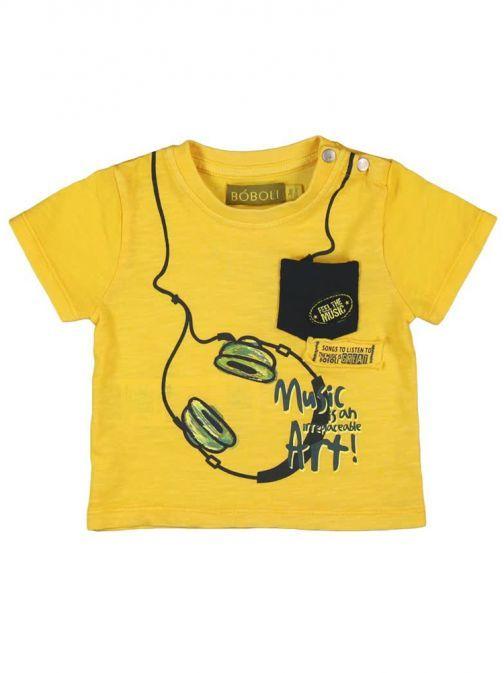"Boboli Yellow ""Feel The Music"" T-Shirt 313018"