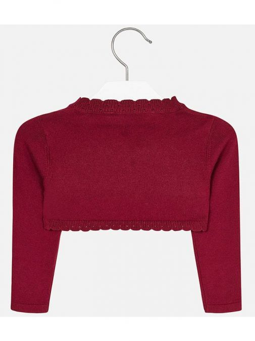 Mayoral Red Basic Knitted Cardigan
