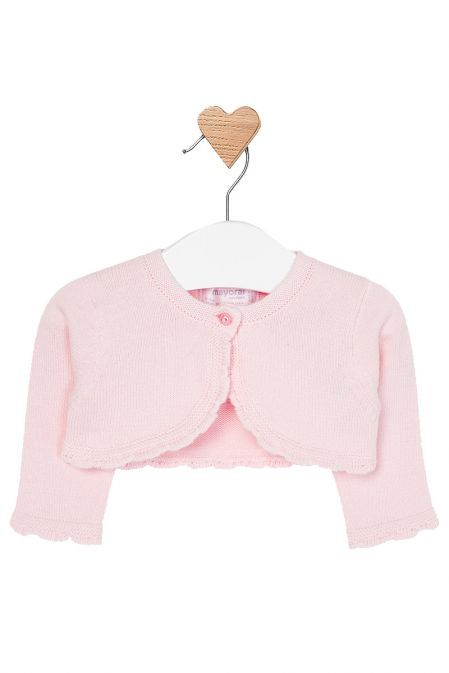Mayoral Rose Pink Bolero Cardigan 318 24