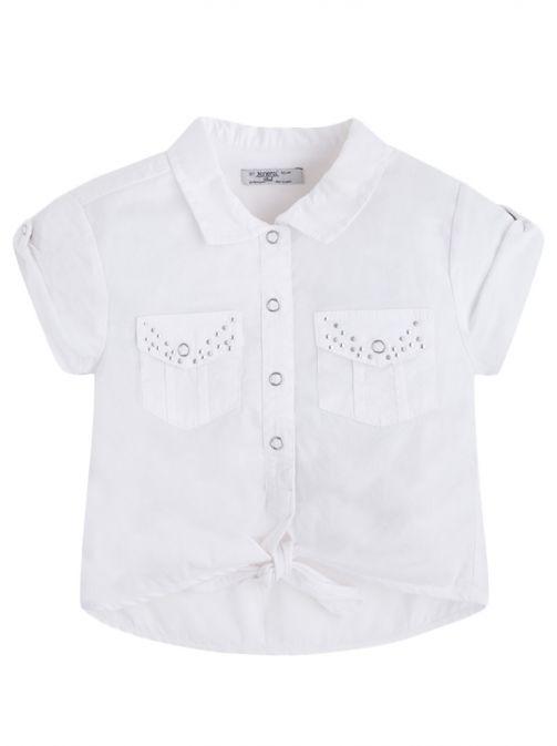 Mayoral White Short Sleeve Blouse 3181 95