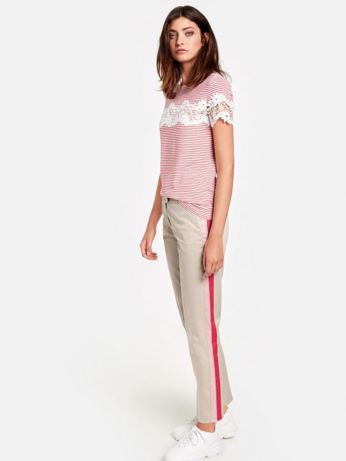 Taifun Light Beige Slim Leg Trousers 320026-17116 90031